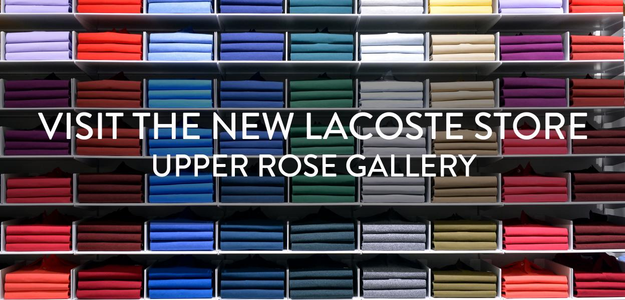 LACOSTE NEW STORE NOW OPEN, BLUEWATER, KENT