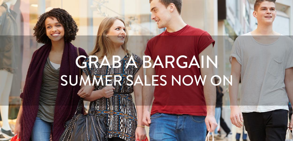 Summer sales at Bluewater, Kent