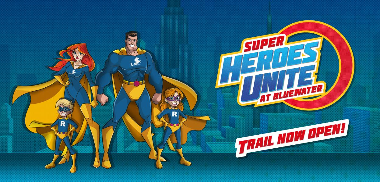 Superheroes at Bluewater, Kent