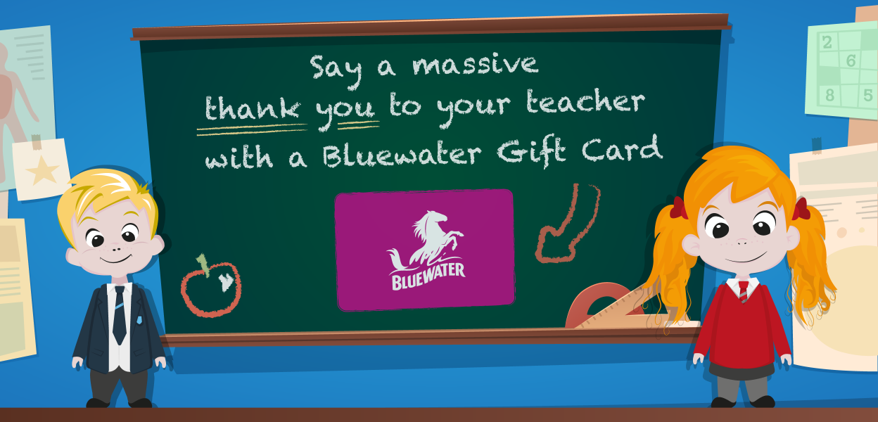Bluewater gift card for teachers, Bluewater, Kent