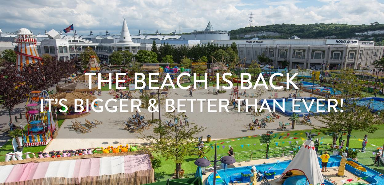 Bluewater Beach is back, Bluewater, Kent