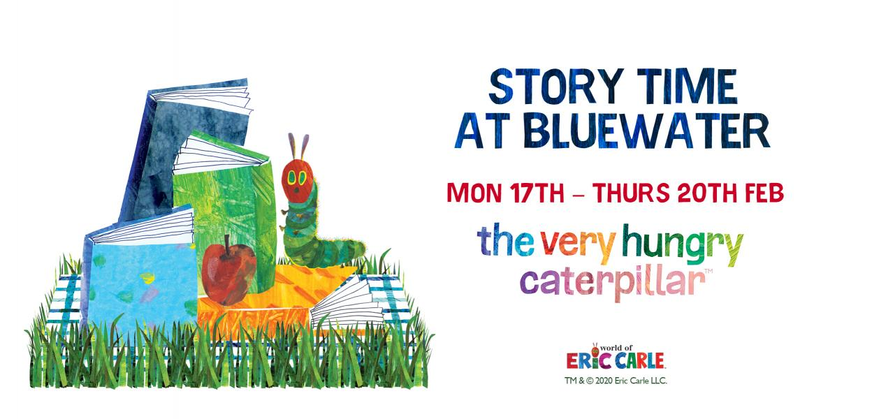 Story time with The Very Hungry Caterpillar, Bluewater, Kent