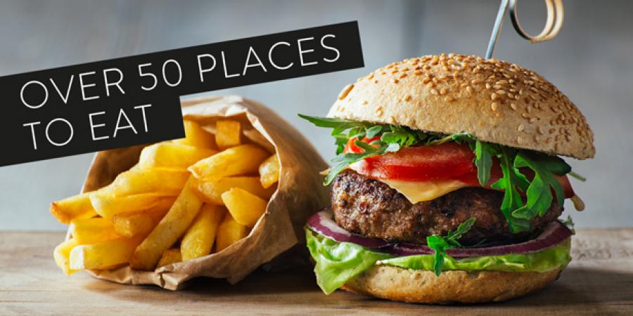 Choose from over 50 places to eat and drink at Bluewater, Kent