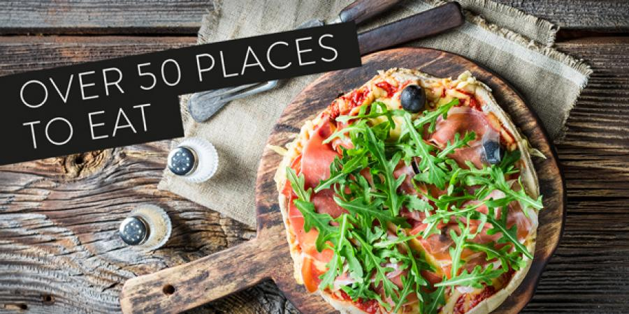 Choose from over 50 places to eat at Bluewater, Kent