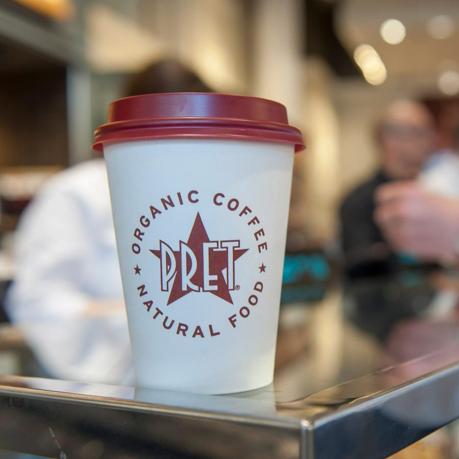Pret fresh food and coffee all day at Bluewater, Kent