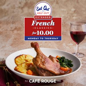 Eat Out to Help Out at Cafe Rouge