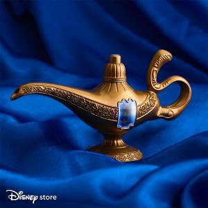Aladdin lamp promotion at the Disney Store, Bluewater, Kent