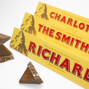 Personalised toblerone at House of Fraser, BLuewater, kent