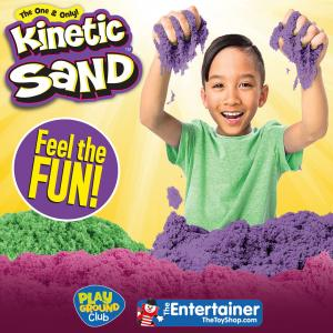 Kinetic Sand Event at The Entertainer, Bluewater, Kent