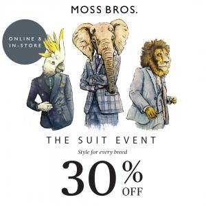 30% off at Moss Bros, Bluewater, Kent