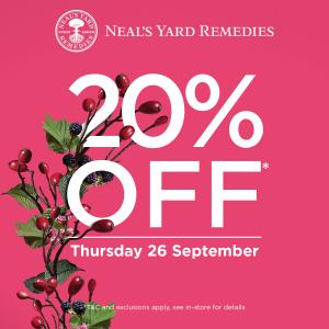 Neals Yard Remedies promotion, Bluewater, Kent