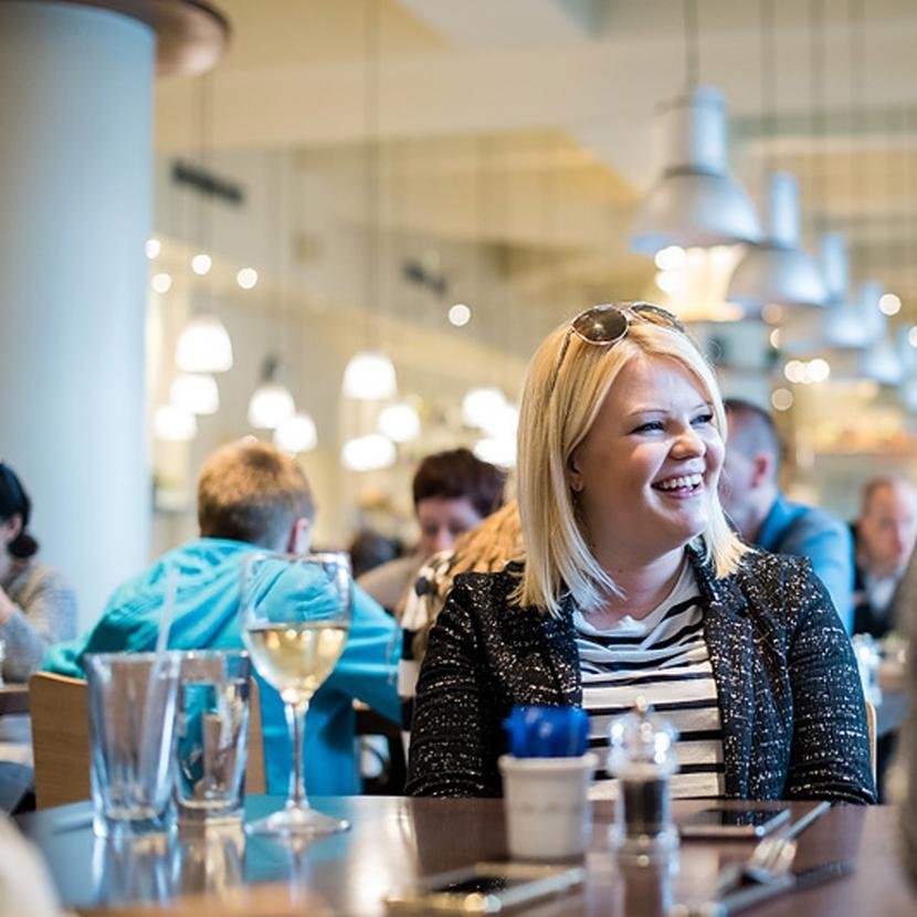 Carluccio's Italian restaurant and food shop at Bluewater, Kent