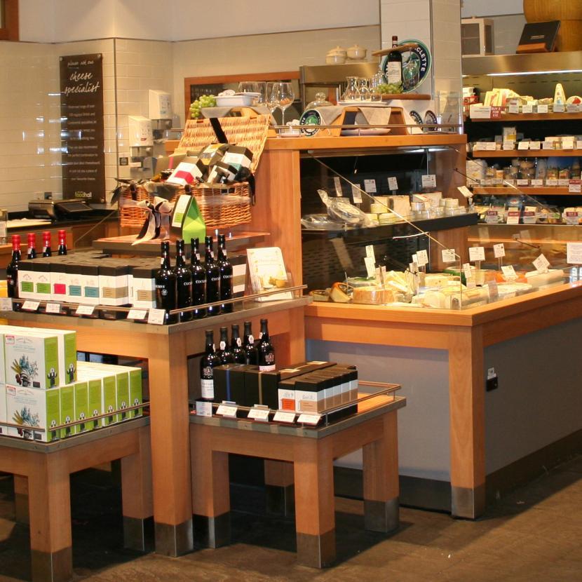 Waitrose groceries at the John Lewis Foodhall at Bluewater, Kent