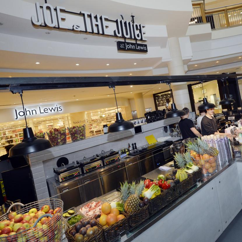 Joe and The Juice smoothies, juices and fresh food at John Lewis, Bluewater