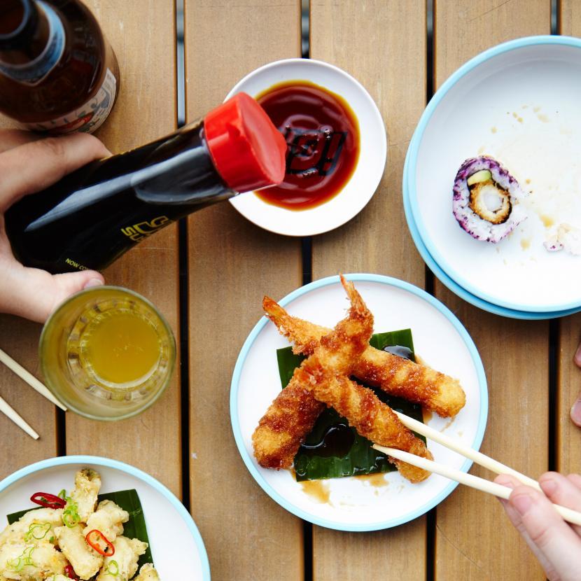 YO! Sushi Japanese Street Food and Sushi restaurant at Bluewater, Kent