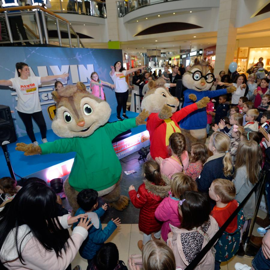 Alvin and the Chipmunks movie roadshow at Bluewater, Kent