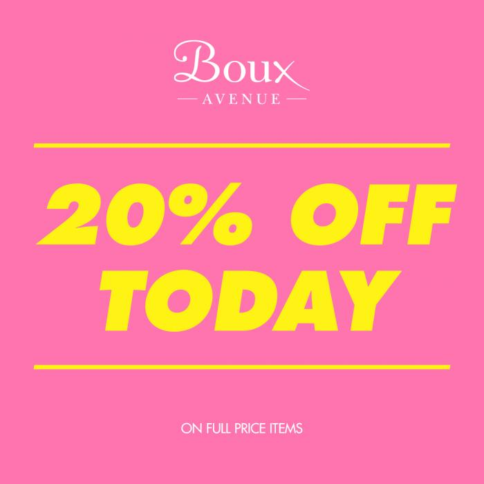 Boux Avenue Bank Holiday offer