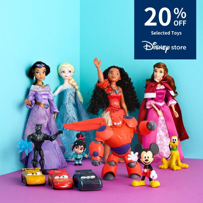 20% off selected toys at the Disney store, Bluewater, Kent