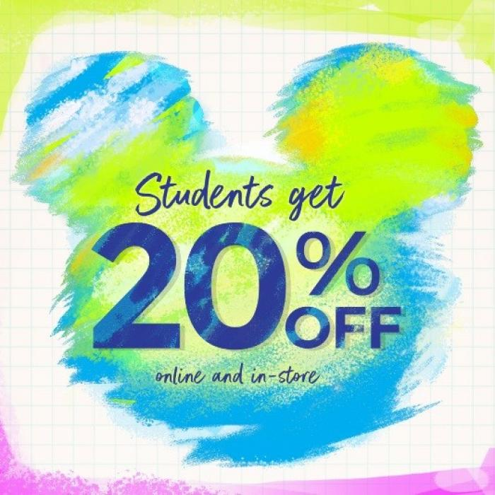 20% Student Discount at Disney, Bluewater, Kent