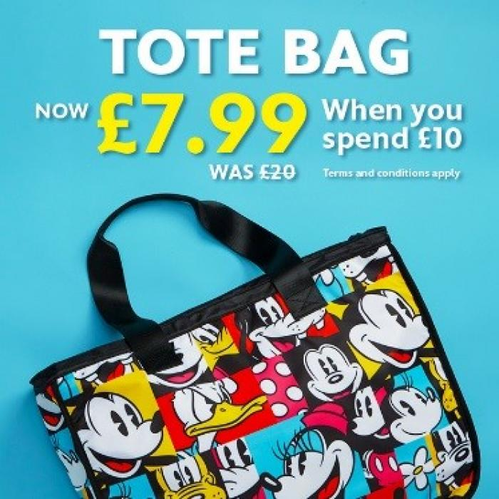 Adult tote bag offer from Disney Store, Bluewater, Kent