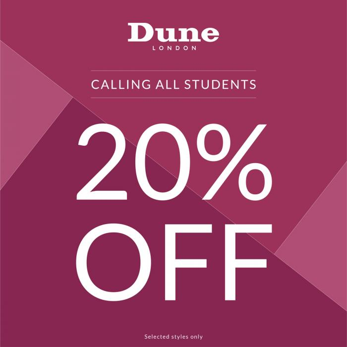 Dune student discount, Bluewater, Kent