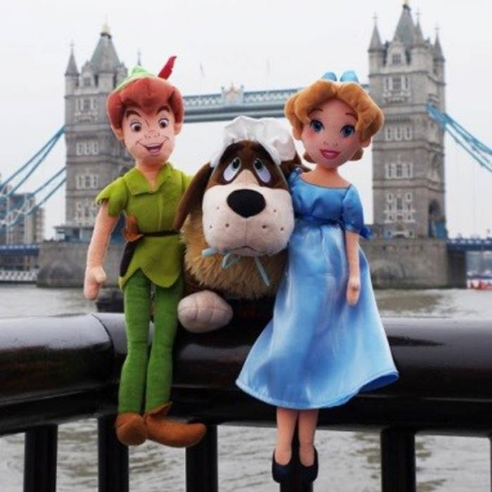 Peter Pan Soft Toy Dolls at the Disney Store, Bluewater, Kent
