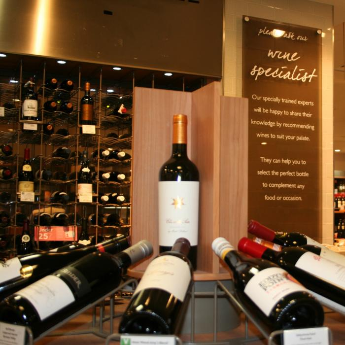 Some of the wines on offer at the Foodhall Wine Bar