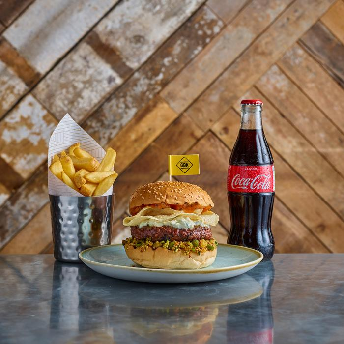 The Ruby Murray burger at GBK, Bluewater, Kent