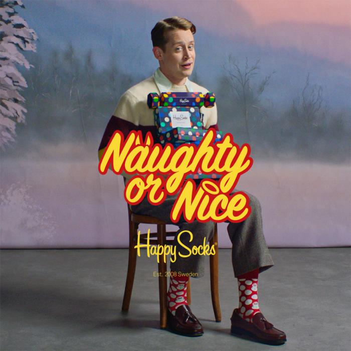 """Naughty or Nice"" Happy Socks"