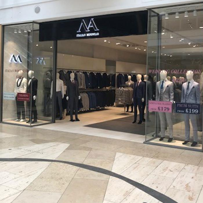 NA Menswear new store now open, Bluewater, Kent