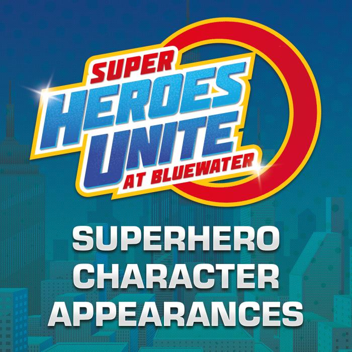 Superhero character appearances this weekend, Bluewater, Kent