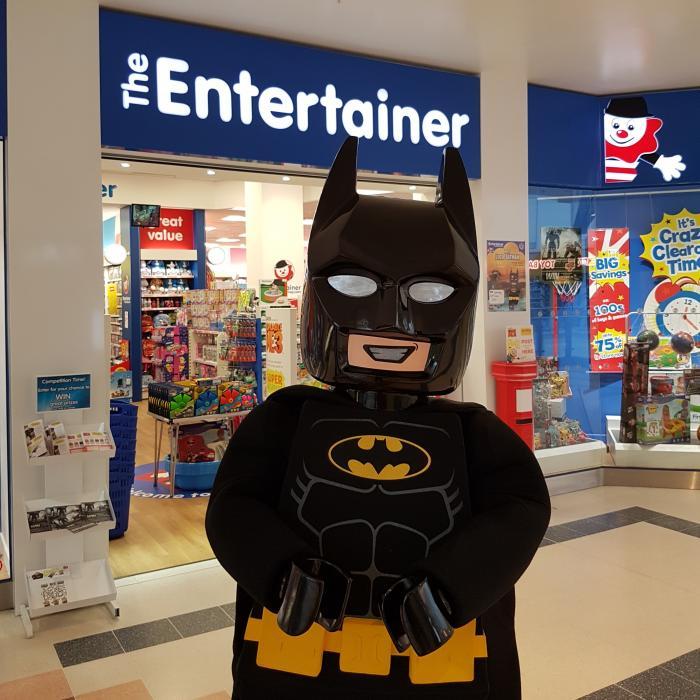 Batman Visit at The Entertainer, Kent, Bluewater