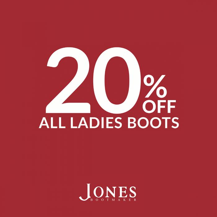 Save 20% at Jones Bootmaker, Bluewater, Kent