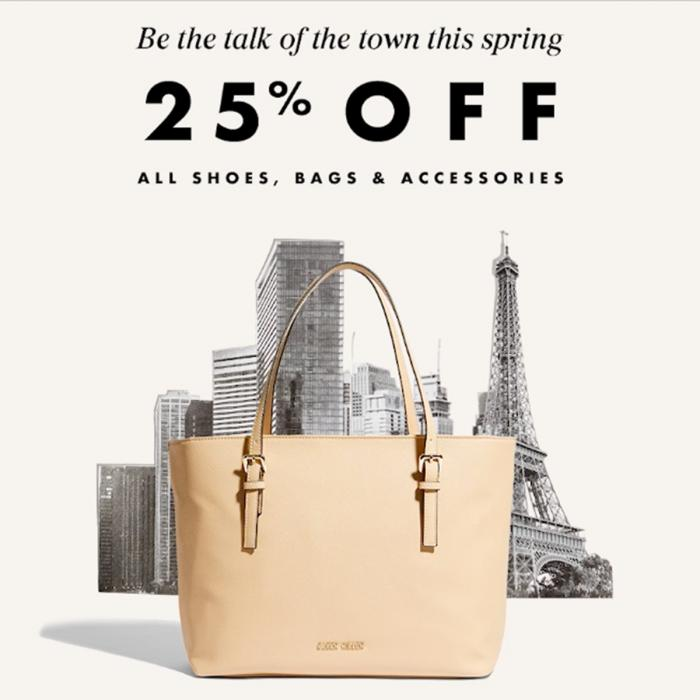 25% off shoes, bags and accessories at Karen Millen, Bluewater, Kent