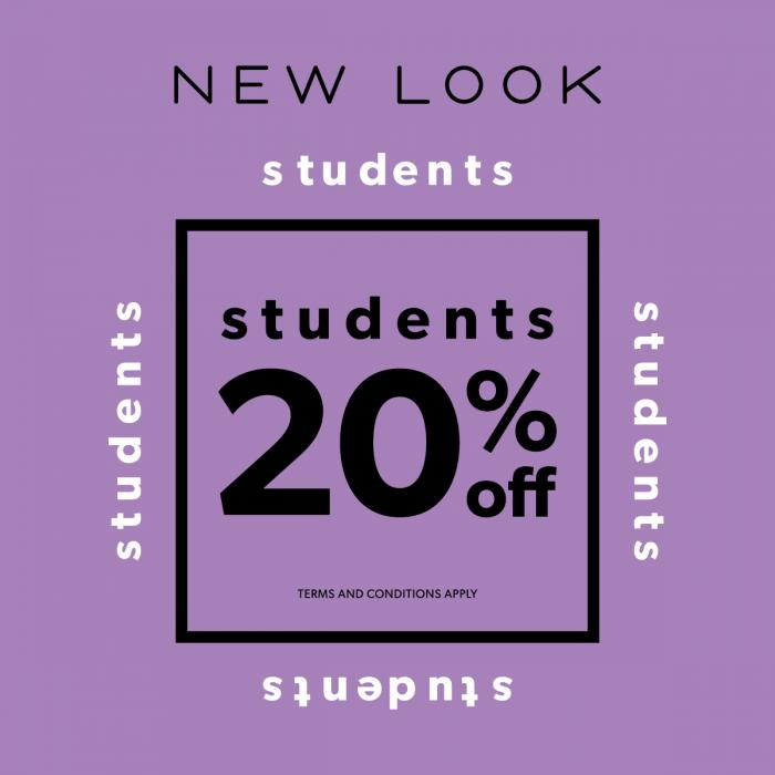 New Look Student offer, Bluewater, Kent
