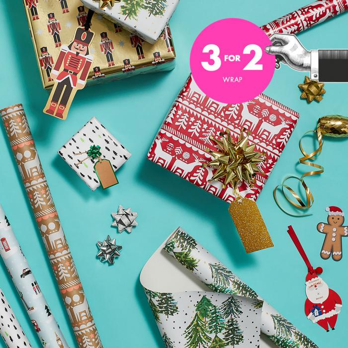 Paperchase Christmas Wrap, Bluewater, Kent