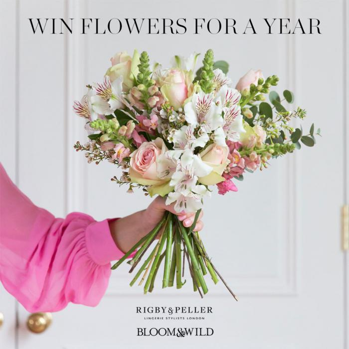Win flowers for a year at Rigby & Peller this Mother's Day, Bluewater, Kent