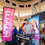 kmfm live broadcast and DJ at Bluewater's Student Night