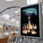 DIOR J'adore media installation at Bluewater, Kent