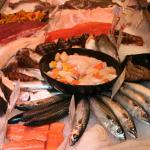 Fresh fish, meat, groceries and wines from the John Lewis Foodhall at Bluewater, Kent
