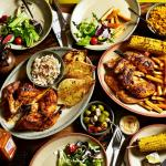 Family dining at Nando's restaurant Bluewater.
