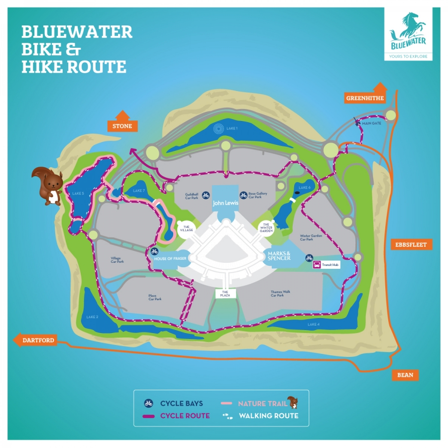 Bluewater bike and hike map