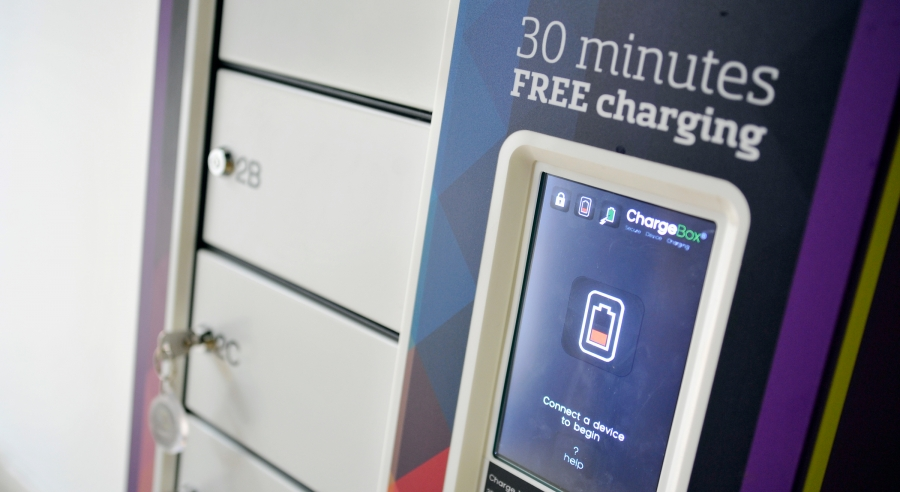 Chargebox mobile phone charging at Bluewater, Kent