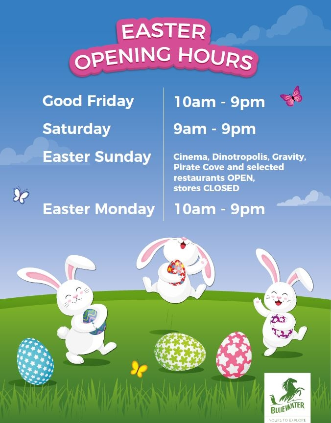 Bluewater Easter opening hours, Bluewater, Kent