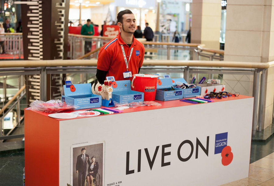 The Poppy Appeal, Bluewater, Kent