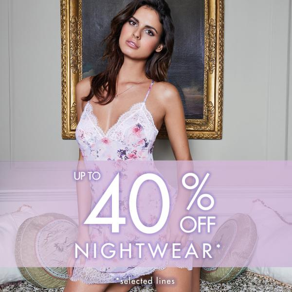 Up to 40% off nightwear at Boux Avenue, Bluewater, Kent