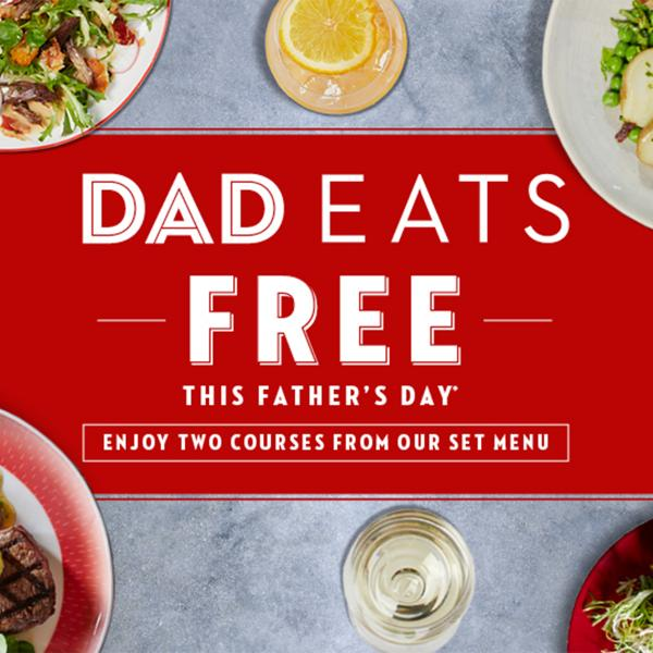 Cafe Rouge Father's Day - Dads eat free, Bluewater, Kent