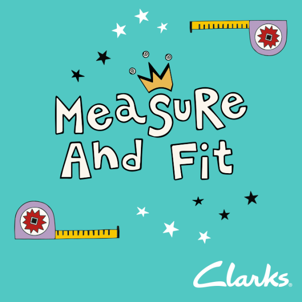 Measure and fit appointment at Clarks