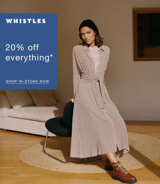 20% off at Whistles