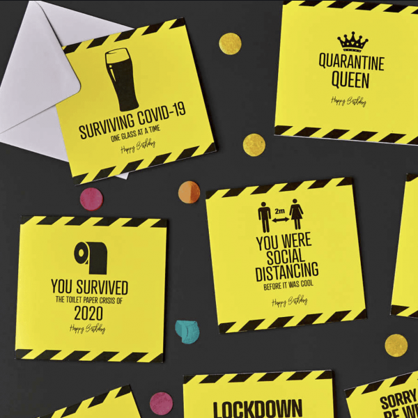 Send a socially-distanced smile with Card Factory's new lockdown range